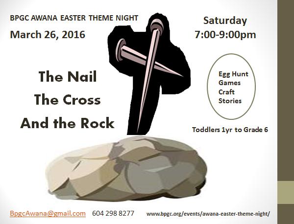 BPGC AWANA Easter Theme Night, March 26, 2106